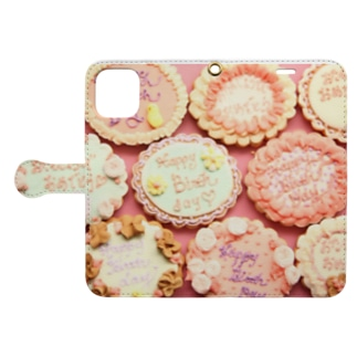 many birthday cookies Book-style smartphone case