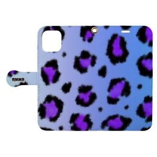 Blue leopard Book-style smartphone case