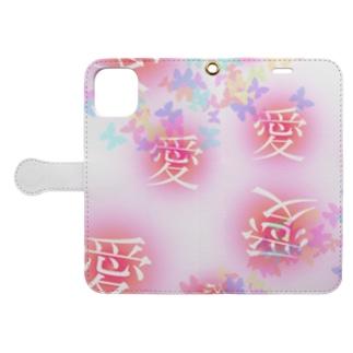 愛フォンケース 明星デザイン Book-style smartphone case