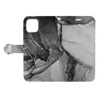 楼(モノクロver.) Book-style smartphone case