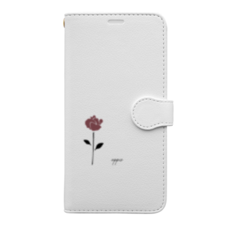appisのrose Book-style smartphone case