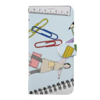 文房具のセカイ Book-style smartphone case