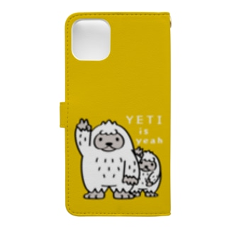 *suzuriDe Monyaa.tag*のCT94 YETI is yeah*D3402 Book-style smartphone caseの裏面