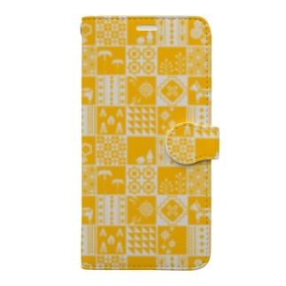 patchwork Book-style smartphone case