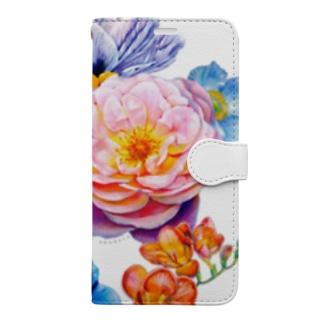flowers 陰 Book-style smartphone case