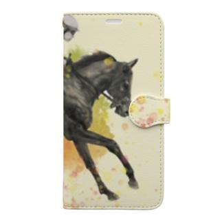 駆ける馬 Book-style smartphone case