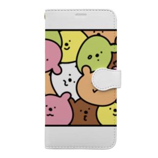 ギューギュークマ レクタングルsp Book-style smartphone case