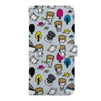 インキ缶ちゃんズ 手帳型スマホケース Book-style smartphone case