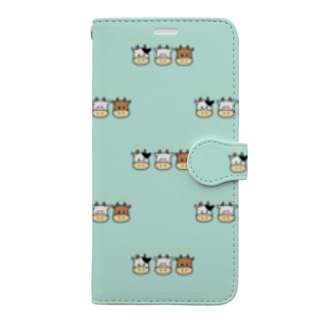 うし、みっつです Book-style smartphone case