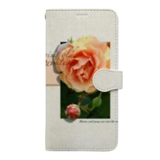 咲き誇れ on paper(オレンジ) Book-Style Smartphone Case