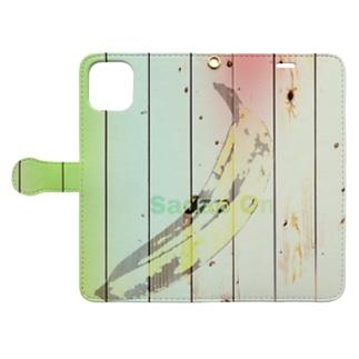 Woodyバナナ Book-style smartphone case
