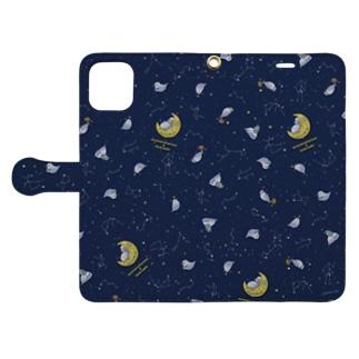 星座アザラシ・手帳型ケース Book-style smartphone case
