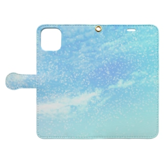 Pastel blue cosmic sky Book-style smartphone case