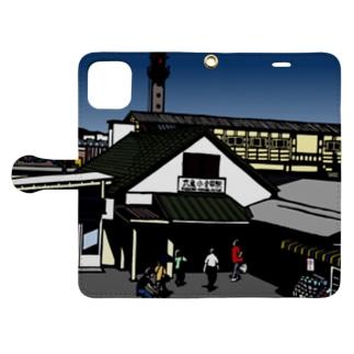 武蔵小金井駅 いろどり Book-style smartphone case