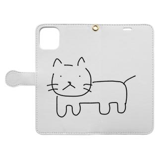 ねこ フルボディ Book-style smartphone case