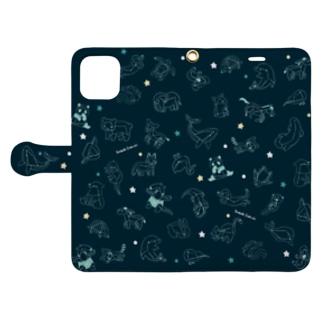 アニマル大星座 Book-style smartphone case