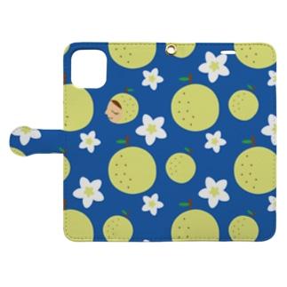 梨祭り Book-style smartphone case