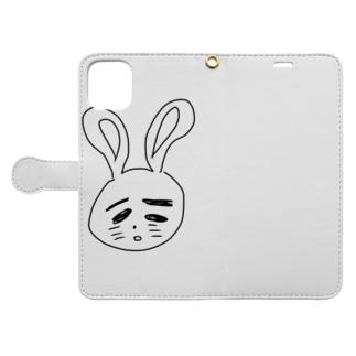 うさ村さん Book-style smartphone case