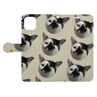 北海道マークの猫 Book-style smartphone case