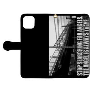 The Angel is always there ~ Revelation of passing Book-style smartphone case