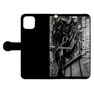 The Angel is always there ~ Beyond the rubble Book-style smartphone case