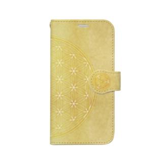 (12mini)FlowerofLife2021 Book-style smartphone case