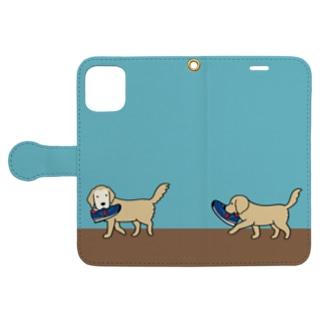 師匠と弟子(ブルー) Book-style smartphone case