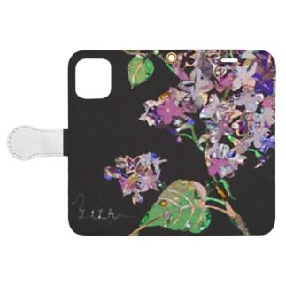 ルーアンのライラック Book-style smartphone case