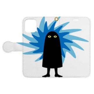 メジェドのチカラ Book-style smartphone case