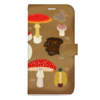 今日のキノコ Book-Style Smartphone Case
