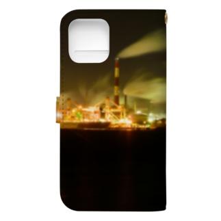 工場夜景3 Book-style smartphone case