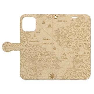 古地図 Book-style smartphone case