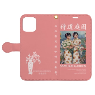 12Pro用 -1922-粉色 Book-style smartphone case