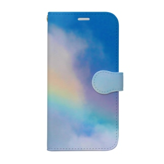 Rainbow carrying happiness Book-style smartphone case