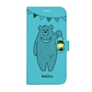 ツキノワグマさんiPhone12用 Book-style smartphone case