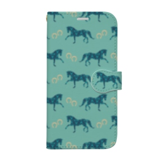 Blue Horse&Shoes Book-style smartphone case