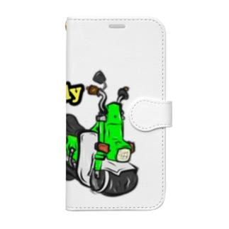 ミニバイクシリーズ (角シャリーver) Book-style smartphone case