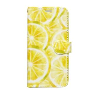 レモン輪切り Book-style smartphone case