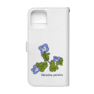 オオイヌノフグリ  (はるのくさ その1) Book-style smartphone case