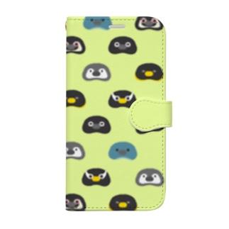 Penguin beans.〈ライトグリーン〉 Book-style smartphone case
