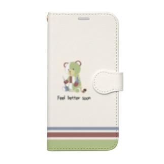 パチクマくん スマホケース(手帳) Book-style smartphone case