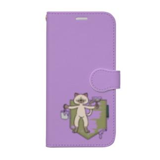 ネコ 未完成のポケット Book-Style Smartphone Case