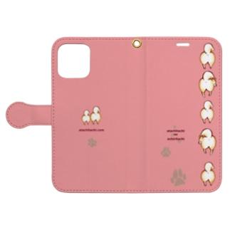 あたちたちのおみせのおちりiPhoneケース ピンク Book-style smartphone caseを開いた場合(外側)