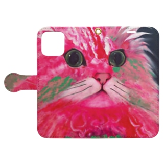 Rhodonite Cat(ロードナイト キャット) Book-style smartphone case