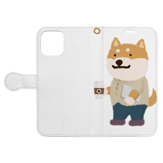 IT柴犬さんとコーヒー Book-Style Smartphone Case