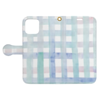 水面 Book-style smartphone case