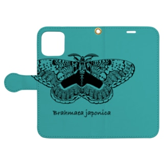 Brahmaea japonica Book-style smartphone case