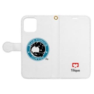 ブルータンコーヒー Book-style smartphone case