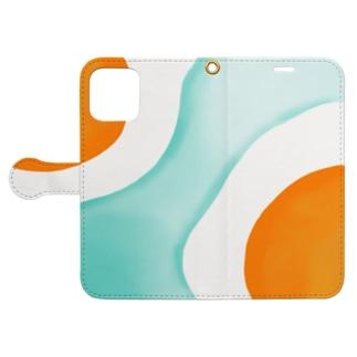 たまごの島 ペタンコ Book-style smartphone case