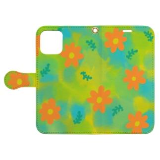 花のある日々 Book-style smartphone case